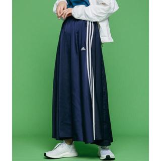 adidas - 【美品】adidas マストハブ ロングスカート ネイビー M