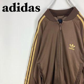 adidas - アディダス☆サイド袖ライン 刺繍ロゴ トラックトップ ジャケット ジャージ