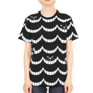Graniph - グラニフ  Tシャツ ネコ ネコ柄 ブラック レディース 半袖