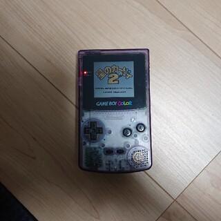 ゲームボーイ(ゲームボーイ)のゲームボーイカラー本体とソフトのセット(携帯用ゲーム機本体)