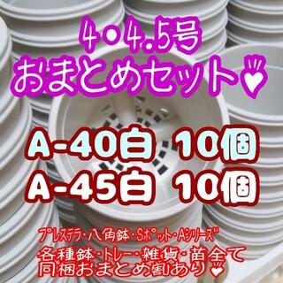 プラ鉢20個おまとめセット♪【4号・4.5号鉢 各10個】プレステラ多肉(プランター)