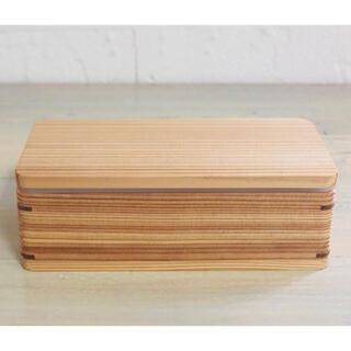中古 プロキッチンオリジナル 杉の弁当箱 /  国産 杉 シール蓋 500ml
