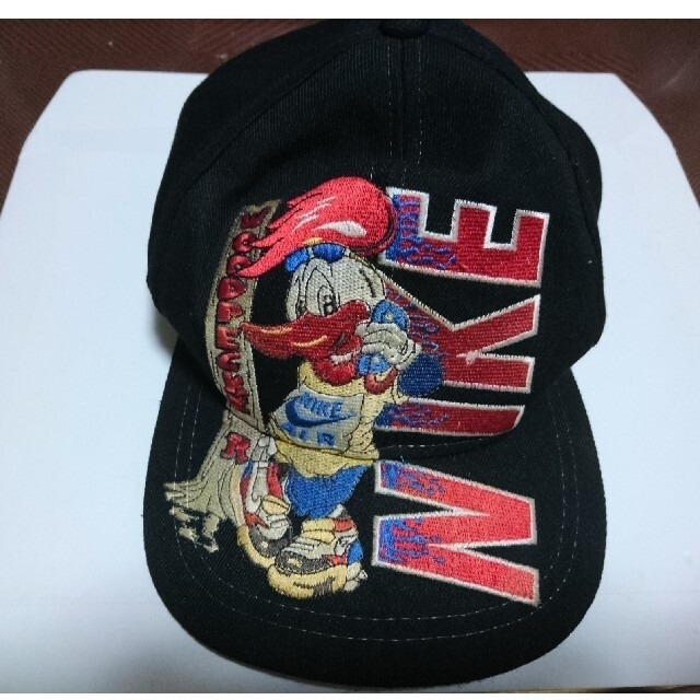 NIKE(ナイキ)の古着 ナイキ キャップ 黒色 USA製 ウッドペッカー メンズの帽子(キャップ)の商品写真