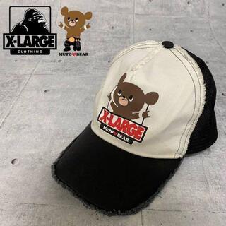 XLARGE - 【限定‼️】武藤ベアー X-LARGE コラボキャップ 黒 白