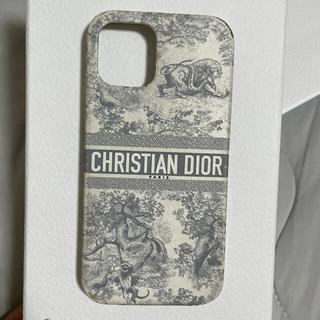 ディオール(Dior)のDIOR iPhone12.12proケース トワル ドゥ ジュイ グレー(iPhoneケース)
