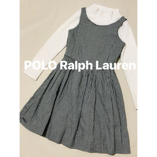 POLO RALPH LAUREN - ラルフローレン POLO 千鳥柄 ワンピース ジャンパースカート 130 140
