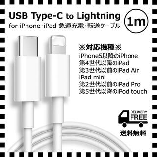 iPhone用*USB-C(Type-C)- Lightning ケーブル