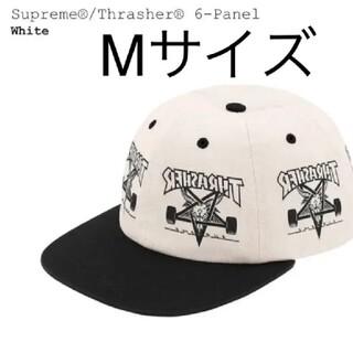 Supreme - supreme Thrasher 6-Panel Supreme キャップ 白