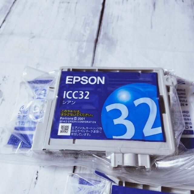 EPSON 純正インクカートリッジ ICC32 ICLC32 ICBK32 スマホ/家電/カメラのPC/タブレット(PC周辺機器)の商品写真