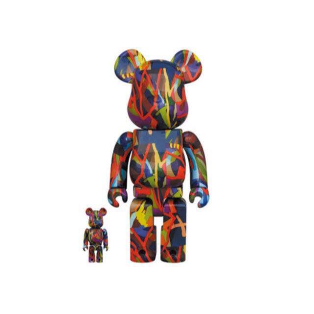 MEDICOM TOY(メディコムトイ)のBE@RBRICK KAWS TENSION 100% & 400%   エンタメ/ホビーのおもちゃ/ぬいぐるみ(キャラクターグッズ)の商品写真