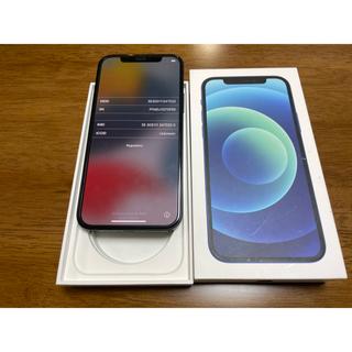 Apple - iPhone12 64GB  国内版SIM フリー ブルー バッテリー100%