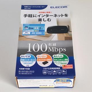 エレコム(ELECOM)のエレコム 有線ブロードバンドルーター BRC-FEBK(PC周辺機器)