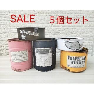 ●多肉植物 リメイク缶 リメ缶 5個セット セール(プランター)