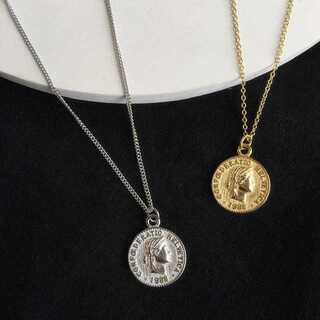 コイン ゴールド チェーンネックレス 今年流行 S925 アクセサリー