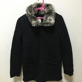 ディーゼル(DIESEL)の\美品/ディーゼル♡ファー付きブラックコート(毛皮/ファーコート)