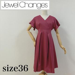 ジュエルチェンジズ(Jewel Changes)の新品未使用 ジュエルチェンジズ カシュクールワンピース ピンク(ひざ丈ワンピース)