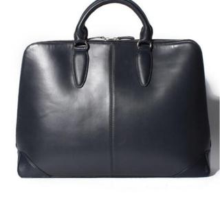 【新品、タグ付き】MUR 本革 ブリーフケース  ネイビー ビジネスバッグ