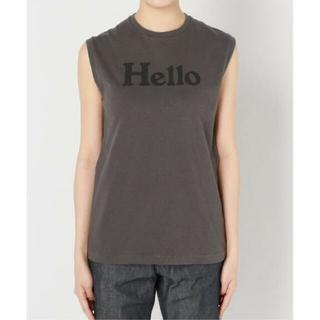 MADISONBLUE - MADISONBLUE マディソンブルー HELLO ノースリーブ Tシャツ