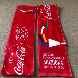 コカコーラ(コカ・コーラ)のオリンピック 非売品タオル  静岡 2枚セット(ノベルティグッズ)