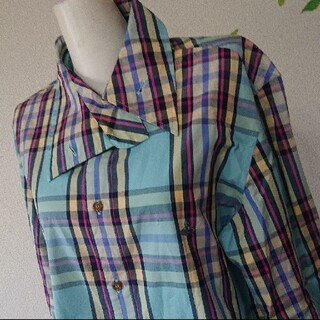 Vivienne Westwood - Vivienne Westwood MAN オーブ 刺繍 チェックシャツ 羽織