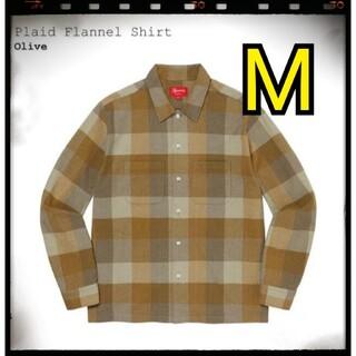 Supreme - Supreme Plaid Flannel Shirt 21AW M olive