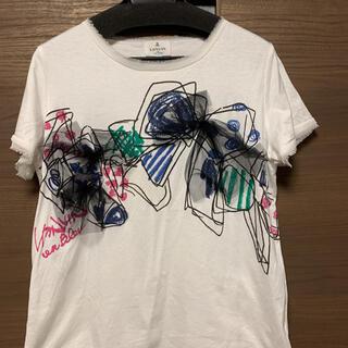 ランバンオンブルー(LANVIN en Bleu)のリボン柄Tシャツ(Tシャツ(半袖/袖なし))
