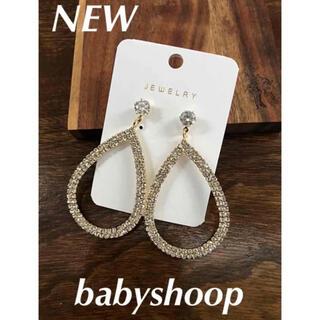 baby shoop - 976 新品 babyshoop ティアドロップ ストーンピアス ゴールド