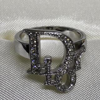 Christian Dior - Christian Dior ディオール シルバー ロゴ リング9号 指輪