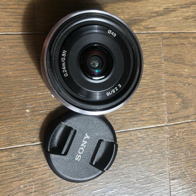 SONY(ソニー)の美品ソニー単焦点レンズ E 16mm F2.8 Eマウント用 SEL16F28 スマホ/家電/カメラのカメラ(レンズ(単焦点))の商品写真
