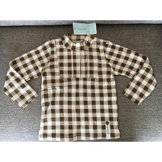 ビケットクラブ(Biquette Club)の新品タグ付き Biquette シャツ 長袖 カットソー キムラタン チェック(Tシャツ/カットソー)