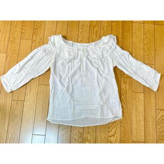 セポ(CEPO)の長袖とろみ白ブラウス(シャツ/ブラウス(長袖/七分))