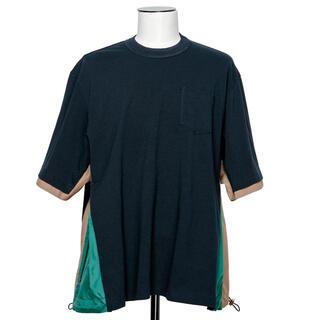sacai - 今期21aw Sacai ハイブリッド異素材切り替えTシャツ 1 サカイ