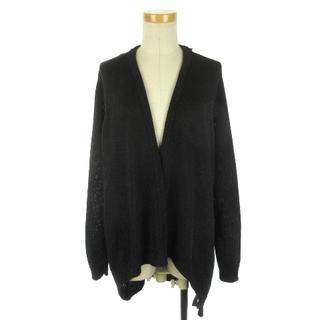 ラルフローレン(Ralph Lauren)のラルフローレン カーディガン ボタンレス シルク 黒タグ M ブラック ECR8(カーディガン)