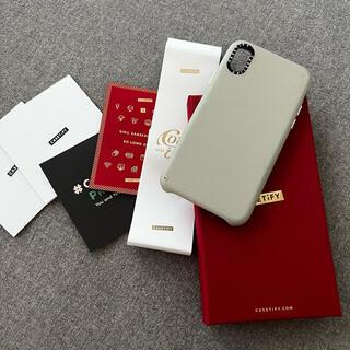 iPhone - ケースティファイ iPhone x xs レザーケース グレー