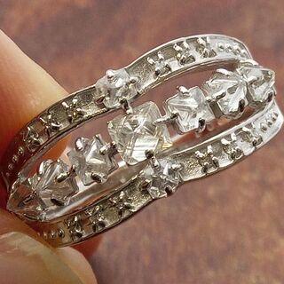 意外とないです!ラフカットダイヤ!K18WGダイヤリング 16.5号(リング(指輪))