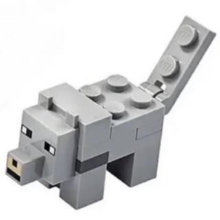 レゴ(Lego)のLEGO レゴマインクラフト より オオカミ(知育玩具)