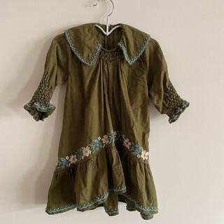 Caramel baby&child  - apolina kids 2-3y スモック刺繍ドレス