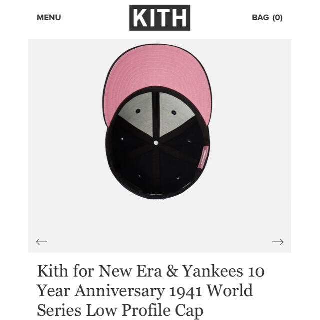Kith for New Era & Yankees 10 Year Anv メンズの帽子(キャップ)の商品写真