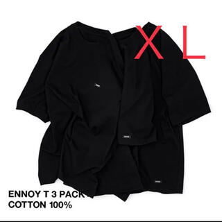 ENNOY 3PACK T-SHIRTS (BLACK) 単品売り ロゴ左胸