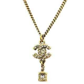 シャネル(CHANEL)のシャネル ネックレス ゴールド ココマーク スイング(ネックレス)