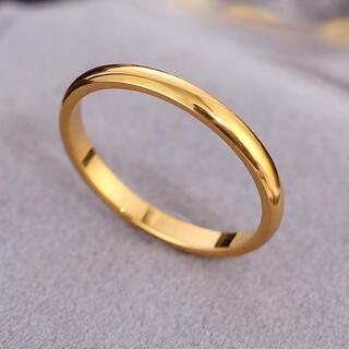 シンプルリング ステンレスリング ステンレス指輪 ピンキーリング ゴールド