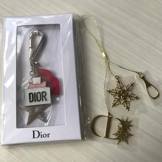 ディオール(Dior)のディオール Dior キーホルダー チャーム ノベルティ 非売品 限定 新品 箱(キーホルダー)