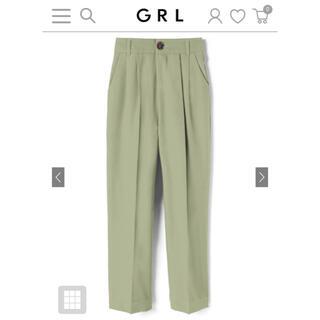 グレイル(GRL)のGRL  ベーシックストレートパンツ グリーン (その他)