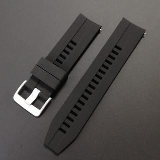 腕時計用バンド ラバーベルト 黒 22mm(22ミリ)