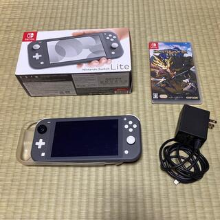 Nintendo Switch - Nintendo Switch Liteグレー  モンスターハンターライズセット