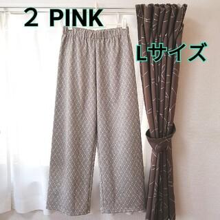 しまむら - ★新品・未使用★ 2PINK  ワイドパンツ Lサイズ