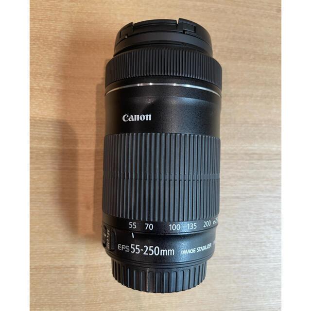 Canon(キヤノン)の値下げCanon望遠レンズ EF-S55-250mmF4-5.6 IS STM スマホ/家電/カメラのカメラ(レンズ(ズーム))の商品写真