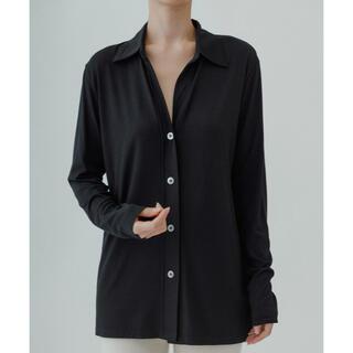 GoPro - yo BIOTOP Silk jersey collar shirt ブラック