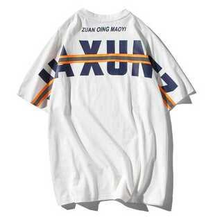 遮光 Tシャツ メンズ オーバーサイズ バックプリント ストリート 白 ホワイト