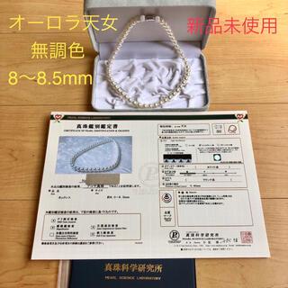 アコヤネックレス 新品 オーロラ天女 無調色 8〜8.5mm